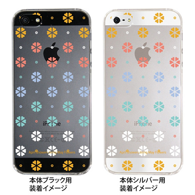 【iPhone5S】【iPhone5】【Clear fashion】【iPhone5ケース】【カバー】【スマホケース】【クリアケース】【May Flowers】 ip5-09-mf0007の画像