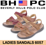 [BHPC] Beverly Hills Polo Club - Ladies Sandals 6057. Available: DARK KHAKI/MAROON/WHISKY. Guaranteed 100% Authentic Local Seller