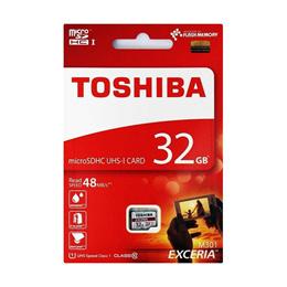◇ 【32GB】 TOSHIBA 東芝 EXCERIA microSDHCカード CLASS10 UHS-I対応 R:48MB/s 海外リテール THN-M301R0320A4 ◆メ