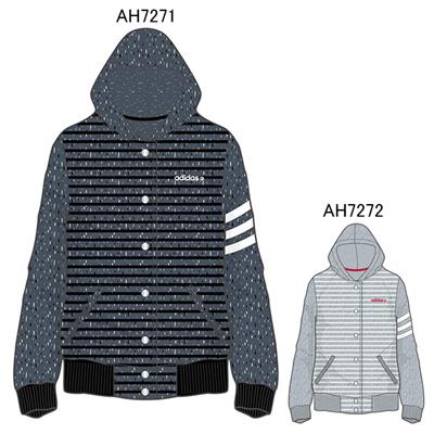 アディダス (adidas) レディース HM モードミックスニットフリースボーダースタジャン W BCO02 [分類:レディースファッション フリースジャケット] 送料無料の画像