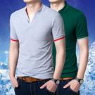 Shen Lin Men's 2015 Korean version of casual men's solid color collar short-sleeved shirt POLO Paul L191008