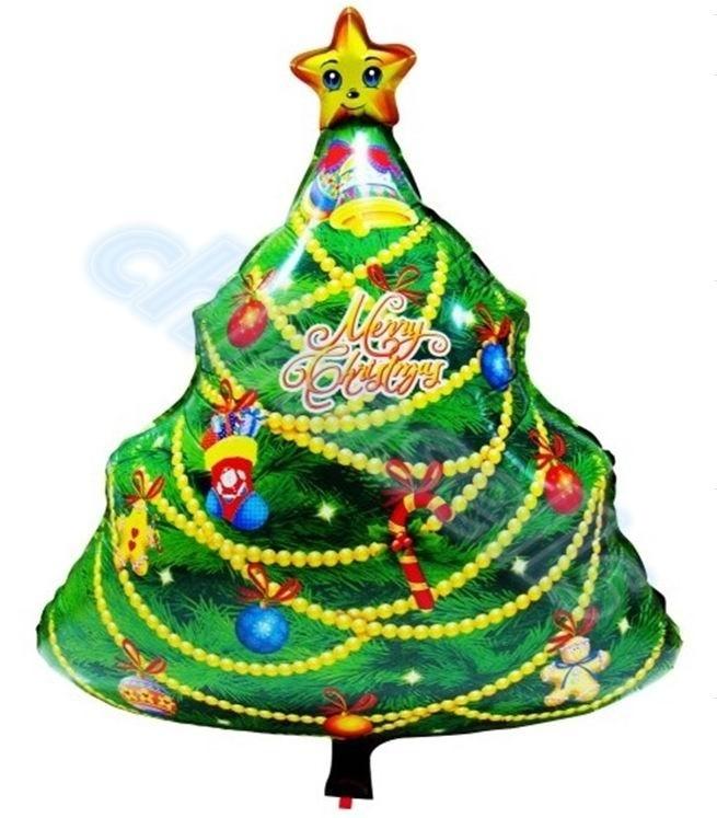 【クリックで詳細表示】20PCS 72 * 52 CM子供の漫画クリスマスツリーアルミ風船子の誕生日パーティー結婚式の装飾クリスマスの装飾箔バルーン