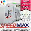Travel Adapter / ALL in one travel adapter/ AC power Adapter / AU UK US EU Plug / UniversalPowerplug