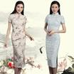 New Arrival/Cheongsam/Chipao/Short sleeve/Half sleeve/Two Type/ Ladies Dress/Cotton linen/Chinese style/Vintage Style/Velvet cheongsam/Long Qipao/Cheongsam