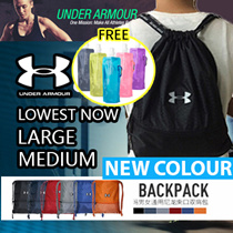 FREE Water bottle [UNDER ARMOUR] From Medium-Large Drawstring Bag Waterproof *GOOD QUALIT
