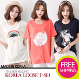 [imkia]★All Flat Price★[FREE SHIPPING]Short Sleeve T-shirts♥Made in KOREA~!]★S/S 2015 Best Selling Premium T-shirts in Korea♥Casual Loose fit T-shirts/Basic Design T-shirts/Casual T-shirts