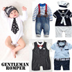 Baby Boy Kids Gentleman Tuxedo Romper / Jacket / Jumpsuit / Blazer Formal Coat Studio Photo cosplay