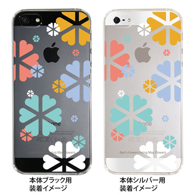 【iPhone5S】【iPhone5】【Clear Fashion】【iPhone5ケース】【カバー】【スマホケース】【クリアケース】【May Flowers】 ip5-09-mf0008の画像