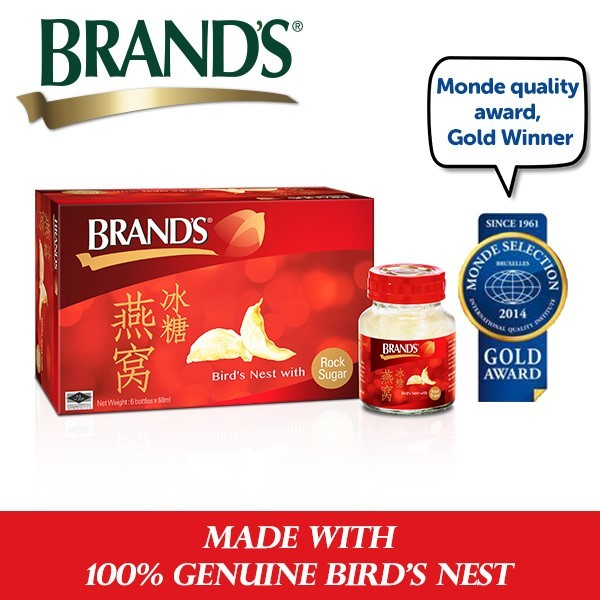 [100% GENUINE BIRD NEST] BRANDS® Birds Nest with Rock Sugar 2 Packs x 6 Bottles x 68ml Deals for only S$100 instead of S$0