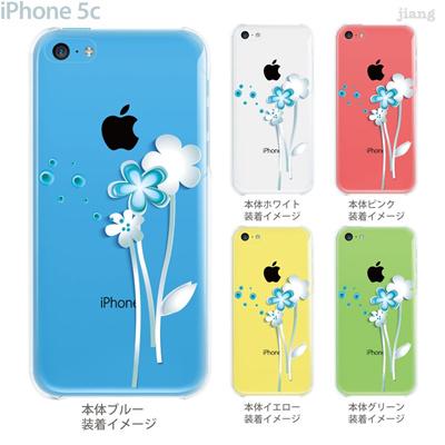 【iPhone5c】【iPhone5cケース】【iPhone5cカバー】【iPhone ケース】【クリア カバー】【スマホケース】【クリアケース】【フラワー】【Vuodenaika】 21-ip5c-ne0055の画像
