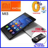 XIAOMI MI3 RAM 2GB MEMORY 16GB FREE Tempered Glass seharga Rp.120.000 GARANSI RESMI PT. GLOBAL MOBILE TECHNOLOGIE ( GMT )