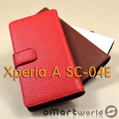 Xperia A SO-04E Xperia A SO-04E/ Xperia A/ xperia a ケーススマホ カバー xperiaスマホ カバー ★ docomo Xperia A SO-04E 手帳 型 横開き カード収納付きスタイリッシュケースの画像