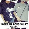 【2017.2.28】 Girls T-shirts Dress Cartoon Short Sleeve Casual Loose Blouse/Plus Size