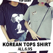 【2017.3.26】 Girls T-shirts Dress Cartoon Short Sleeve Casual Loose Blouse/Plus Size