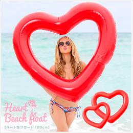 【送料無料】120cm ハート 浮き輪 フロート heartfloat 可愛い 激安 水泳 babdo LOGO 夏 ビーチ ハートフロート プール 海 かわいい 可愛い #8J59#