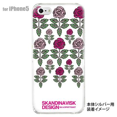 【iPhone5S】【iPhone5】【Clear Fashion】【iPhone5ケース】【カバー】【スマホケース】【クリアケース】【フラワー】【北欧デザイン】 10-ip5-skv-06の画像