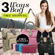 [HARGA WOW ] Tas Wanita 3 Fungsi_Sling Bag/Backpack/Shoulder bag_Kualitas Terbaik!