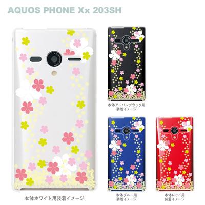 【AQUOS PHONEケース】【203SH】【Soft Bank】【カバー】【スマホケース】【クリアケース】【桜】 09-203sh-flo0002の画像