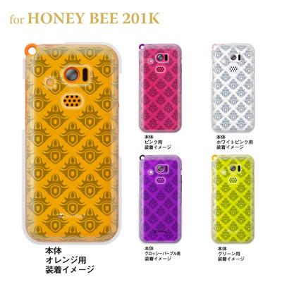 【HONEY BEE ケース】【201K】【Soft Bank】【カバー】【スマホケース】【クリアケース】【トランスペアレンツ】【クレスト】 06-201k-ca0021gの画像