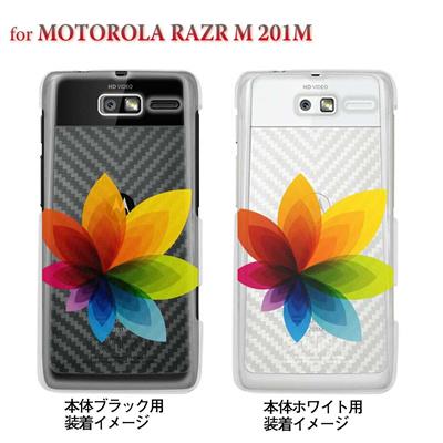【MOTOROLA RAZR ケース】【201M】【Soft Bank】【カバー】【スマホケース】【クリアケース】【フラワー】 22-201m-ca0031の画像