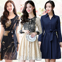 Korean style Slim lace Chiffon dress/Plus size Dresses/Beach skirt/Bohemia/floral dress/work dress