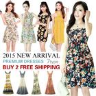 [BUY 2 FREE SHIPPING] 2015 NEW ARRIVAL ! Korean Fashion Floral Dress/ Summer Beach Dress/ Bohemian Long Dress / Chiffon Dress /Suspender Skirt / Midi /Long Dress/ Pretty Lady Dress/7 TYPES