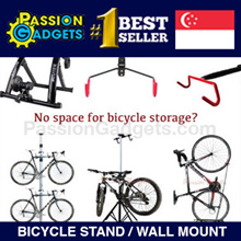 3 Design! Premium Aluminum Single/Dual Bicycle Tower Rack Stand/ Bike Stand / Wall mount/Trainer