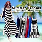 [BUY 2 FREE SHIPPING]2015 Summer Fashion! Women Suspender Dress / Basic Modal Maxi Dress/ Striped Dresses/ Bohemian Long Dress/ Comfortable Sleeveless / Casual Dress/8 COLOR