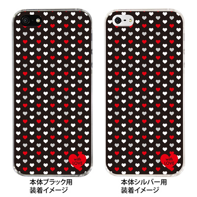 【iPhone5S】【iPhone5】【Clear Arts】【iPhone5ケース】【カバー】【スマホケース】【クリアケース】【with LOVE】 ip5-09-wl0007の画像