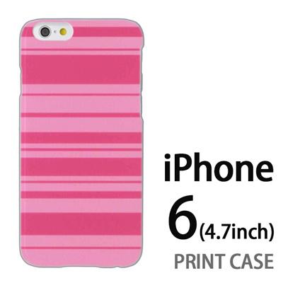 iPhone6 (4.7インチ) 用『0615 ピンクストライブ』特殊印刷ケース【 iphone6 iphone アイフォン アイフォン6 au docomo softbank Apple ケース プリント カバー スマホケース スマホカバー 】の画像
