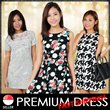 ★Premium Korean Style Printed Dress★ Free M-L Sizes ★Ladies Trendy Fashionable Office Casual Floral Dress. Best Price! Fast Delivery!