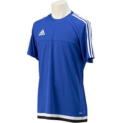アディダス(adidas) TIRO15 トレーニングジャージー半袖 MHU43 S22307 ボールドブルー/ホワイト/ブラック 【サッカー ウェア 練習着】の画像