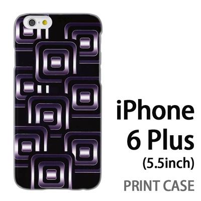 iPhone6 Plus (5.5インチ) 用『No3 スクエアスタンプ 黒』特殊印刷ケース【 iphone6 plus iphone アイフォン アイフォン6 プラス au docomo softbank Apple ケース プリント カバー スマホケース スマホカバー 】の画像