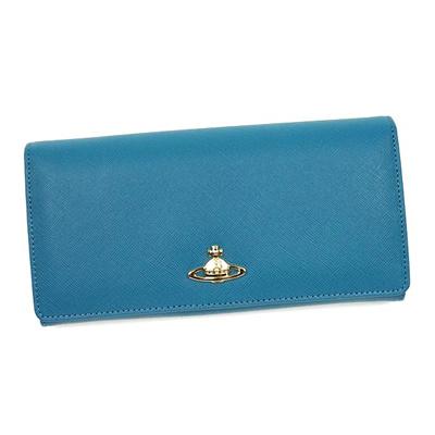 (ヴィヴィアンウエストウッド)Vivienne Westwood 財布 1032 サファイアーノ AZZURRO ブルーの画像