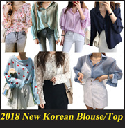 2018 New Fashion Korean UK Blouse Top T-shirt Shirt