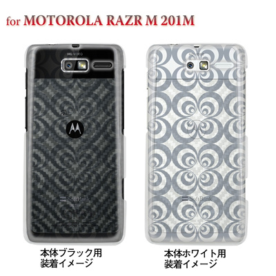 【MOTOROLA RAZR ケース】【201M】【Soft Bank】【カバー】【スマホケース】【クリアケース】【レトロサークル】 06-201m-ca0021eの画像