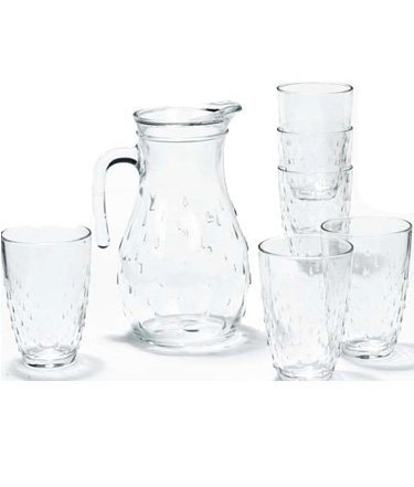 Qoo10 niagara 7 pc drinkware set by bormioli rocco for Qoo10 kitchen set