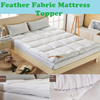 Feather Fabric Mattress Topper with 5cm Thicker ★★Mattress Topper Anti-bacterial anti-mite Mattress Topper Mattress Protector Soft Bedroom Bedding Stainless