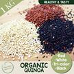 Organic Quinoa [White / Red / Black / Tri Colour] [1kg] The Nuts Warehouse