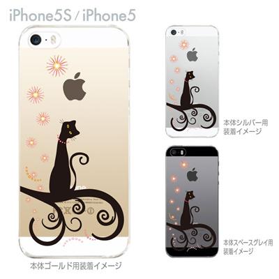 【iPhone5S】【iPhone5】【iPhone5sケース】【iPhone5ケース】【カバー】【スマホケース】【クリアケース】【クリアーアーツ】【ネコ】 21-ip5s-ca0014の画像
