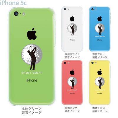【iPhone5c】【iPhone5c ケース】【iPhone5c カバー】【クリア ケース】【iPhone カバー】【スマホケース】【クリアケース】【イラスト】【クリアーアーツ】【ゴルフ】 10-ip5c-0074の画像