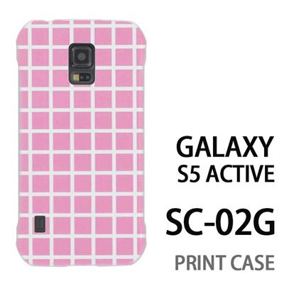 GALAXY S5 Active SC-02G 用『0823 ピンク チェック』特殊印刷ケース【 galaxy s5 active SC-02G sc02g SC02G galaxys5 ギャラクシー ギャラクシーs5 アクティブ docomo ケース プリント カバー スマホケース スマホカバー】の画像