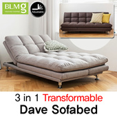 [BLMG_SG]NEW ARRIVALS! Dave Sofa★Stitch★Leather★Couch★Fabric★Bed★Furniture★Living room sofa★Premium★Comfortable