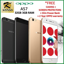 NEW ARRIVALS OPPO A57 32GB 3GB RAM ( 2 YEARS LOCAL WARRANTY ) *FREE CASING AND SCREEN PROTECTOR.