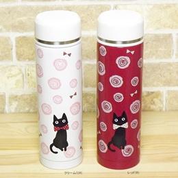 【送料無料】水筒 猫 ネコ 雑貨 グッズ ステンレスボトル ノアファミリー キャット S501