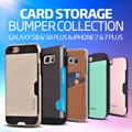 Card Pocket Case★Release! Galaxy S8/S8 Plus/iPhone7/7Plus/S7/Edge/J7Prime/6S/A5/A7/2017/Note5/4/V20