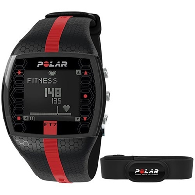 ポラール(Polar) FT7M ブラック/レッド 90051050 【フィットネス クロストレーニング 腕時計 心拍計 ハートレート 国内正規品】の画像