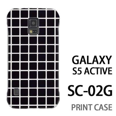 GALAXY S5 Active SC-02G 用『0823 黒 チェック』特殊印刷ケース【 galaxy s5 active SC-02G sc02g SC02G galaxys5 ギャラクシー ギャラクシーs5 アクティブ docomo ケース プリント カバー スマホケース スマホカバー】の画像