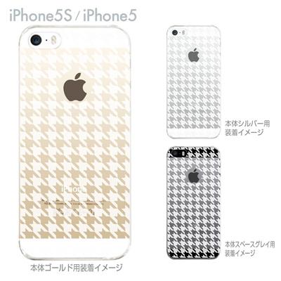 【iPhone5S】【iPhone5】【iPhone5sケース】【iPhone5ケース】【カバー】【スマホケース】【クリアケース】【チェック・ボーダー・ドット】【千鳥格子】 21-ip5s-ca0022の画像