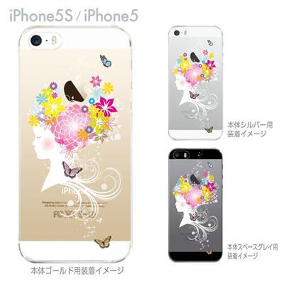 【iPhone5S】【iPhone5】【Clear Arts】【iPhone5sケース】【iPhone5ケース】【カバー】【スマホケース】【クリアケース】【クリアーアーツ】【少女に花】 09-ip5s-th0006の画像